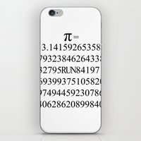 pi iPhone & iPod Skins featuring Pi by Anton Nikulin