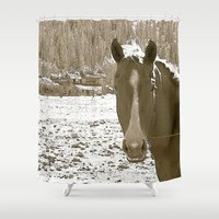 rustic Shower Curtains featuring Rustic by Stormy Mae
