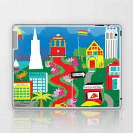 San Francisco, California - Collage Illustration by Loose Petals Laptop & iPad Skin