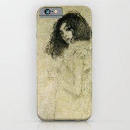 Gustav Klimt - Portrait Of A Young Woman iPhone Case