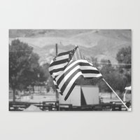 american flag Canvas Prints featuring American Flag by Matthew Gamble