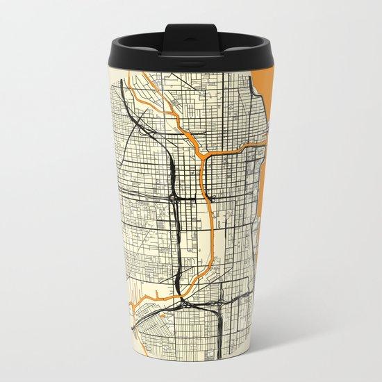 Chicago Map Moon Metal Travel Mug
