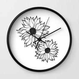 Lazy Flowers Wall Clock