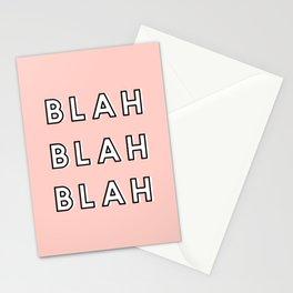 Blah Blah Blah, Girly Office Print Stationery Cards
