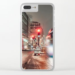 London at night Clear iPhone Case