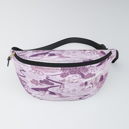 Mythical Creatures Toile- Plum purple colors Fanny Pack