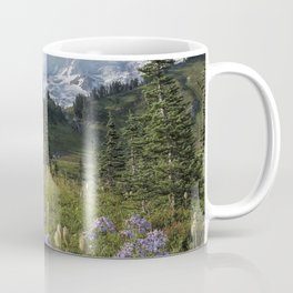 Wildflowers and Mount Rainier Coffee Mug