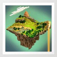 Mine craft World Art Print