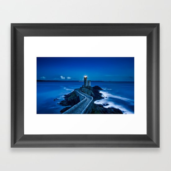 Plouzane Lighthouse, France Framed Art Print