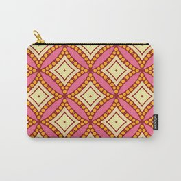 Kitschy Mid Century Pattern in Pink and Yellow Carry-All Pouch