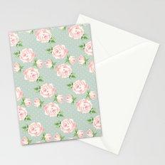 Vintage Roses Pattern Stationery Cards
