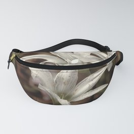 White Lilies Fanny Pack