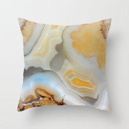 Autumnal Agate Throw Pillow