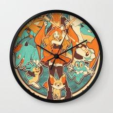 Pokemon XY Megavolution Wall Clock