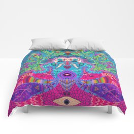 Down The Rabbit Hole Comforters