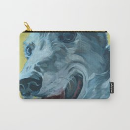 Dilly the Greyhound Portrait Carry-All Pouch