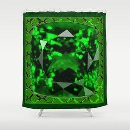 EMERALD GREEN MAY GEM BIRTHSTONE MODERN ART DESIGN Shower Curtain