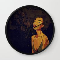 afro Wall Clocks featuring afro - Soul by Mike Koubou
