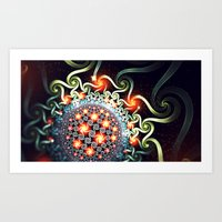 Art Print featuring Hyperbolic relations by BoxTailFractals