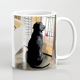 Ajax Watches the World Go By Coffee Mug