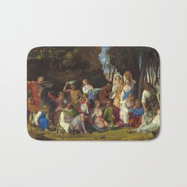 """Giovanni Bellini and Titian """"The Feast of the Gods"""" Bath Mat"""