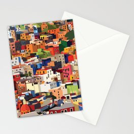 Mexico historical town cityscape (Guanajuato) Stationery Cards