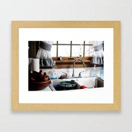 grandmas kitchen sink  Framed Art Print