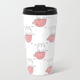 MerKitty Pink Travel Mug