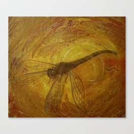 Dragonfly in Amber Canvas Print