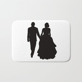 Wedding Couple Silhouette Design For Weddings Bath Mat