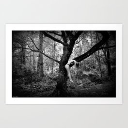 Nude forest Art Print