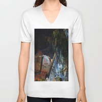 blues V-neck T-shirts featuring Blues by  Agostino Lo Coco