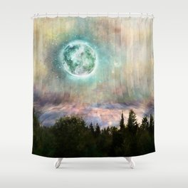 Planetary Soul Haven Day Shower Curtain