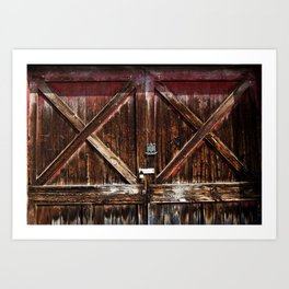 Barn Doors Art Print