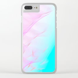 Pastel Motion Vibes - Pink & Turquoise #abstractart #homedecor Clear iPhone Case
