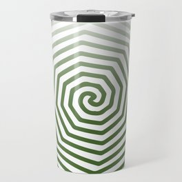 White Green Angled Spiral Travel Mug