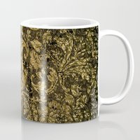damask Mugs featuring Decorative damask by nicky2342
