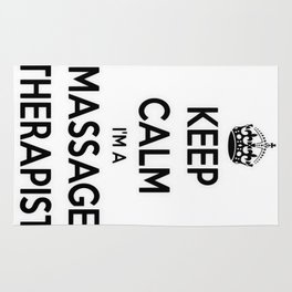Keep Calm I Am A Massage Therapist Rug