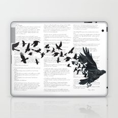 Vintage Style Print with Poem Text Edgar Alan Poe: Edgar Alan Crow Laptop & iPad Skin