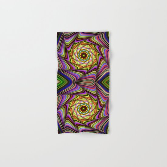Colourful psychedelic motion Hand & Bath Towel