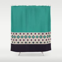 country Shower Curtains featuring country by spinL