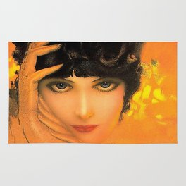 Vintage Glamour Girl Flapper Rug