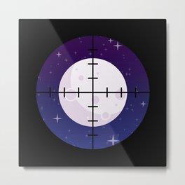 Aim for the Moon Metal Print