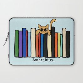 Smart kitty: great gift for writers who love cats! Laptop Sleeve
