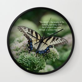 We delight in the beauty of the butterfly.... Wall Clock