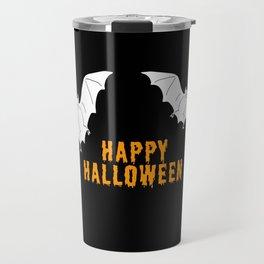 Happy Halloween flying bats Travel Mug