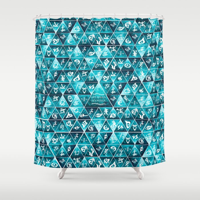 Blackthorn Family Motto Mosaic Shower Curtain