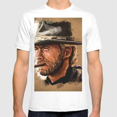 WESTERN Mens Fitted Tee White MEDIUM
