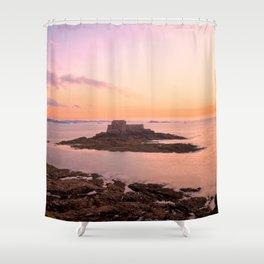 Saint-Malo Twilight Coast Shower Curtain