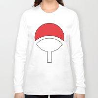 sasuke Long Sleeve T-shirts featuring SASUKE Uchiha by designbook